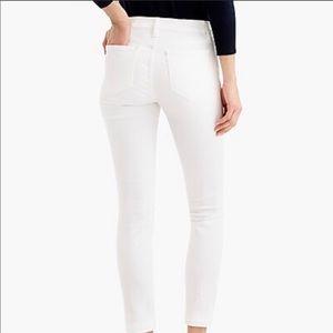 NWOT J. Crew Toothpick White Jeans